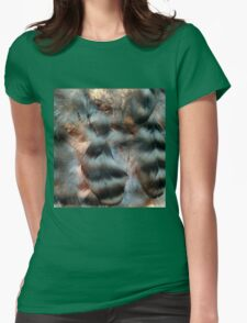 Backlit Feathers Womens Fitted T-Shirt