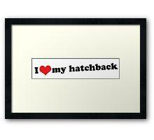 I ♥ my hatchback Framed Print
