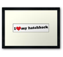 I ♥ my hatchback Framed Print