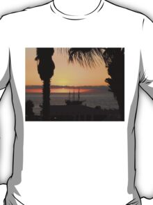 Sunsetting on the Tall Ship T-Shirt