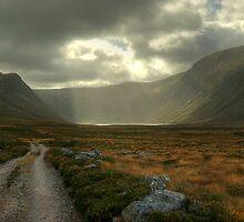 Glen Einich..Light On The Loch by Jamie  Green