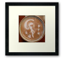 Latte Lady Framed Print