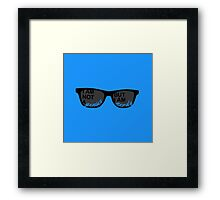 I Am Not A Genius But I Am Nerdy Framed Print