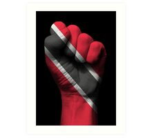 Flag of Trinidad and Tobago on a Raised Clenched Fist  Art Print