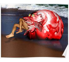 The Blob on the Beach Poster