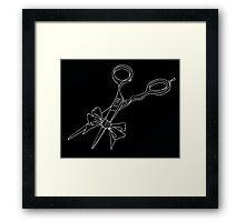 shears black Framed Print