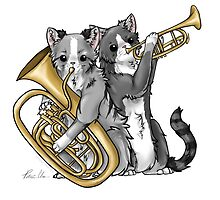 Brass Cats by marimbasian