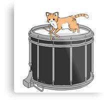 Drum cat Metal Print