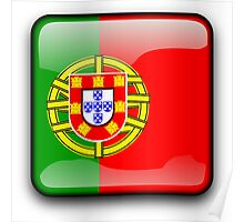 Portuguese Flag, Portugal Icon Poster