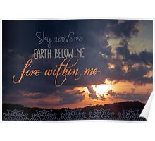 Sunset Fire Poster