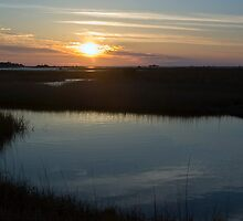 Cedar Key Sunset by Rick  Bender