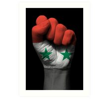 Flag of Syria on a Raised Clenched Fist  Art Print