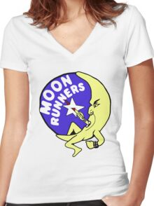 The Moonrunners Women's Fitted V-Neck T-Shirt