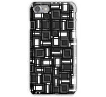 Modular synthesis - geometric abstract minimal pattern iPhone Case/Skin