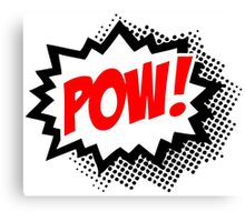POW! Comic Bubble Canvas Print