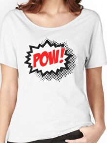 POW! Comic Bubble Women's Relaxed Fit T-Shirt