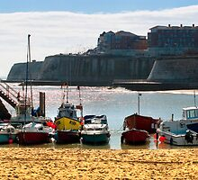 Boats at Broadstairs by Geoff Carpenter