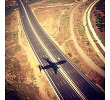 Plane Crossing Photographic Print