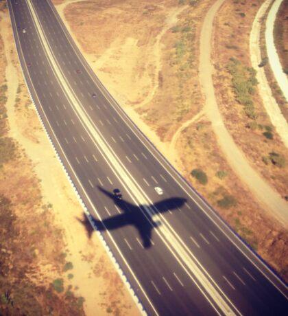 Plane Crossing Sticker