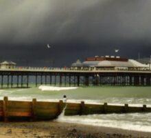 Cromer Pier Storm Sticker