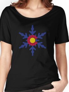 Colorado flag snowflake Women's Relaxed Fit T-Shirt