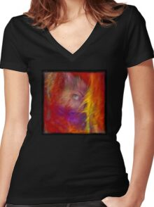 Mystic eye Women's Fitted V-Neck T-Shirt