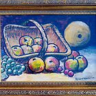 Still life with fruit in basket by Richard Waldron