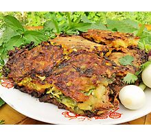 Tasty Zucchini Cutlets Photographic Print