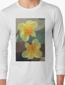 Bi Colour Daffodils Long Sleeve T-Shirt