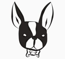 Fancy Boston Terrier With Bow Tie Kids Clothes