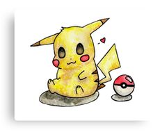 Cute Pikachu Watercolor Canvas Print