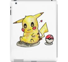 Cute Pikachu Watercolor iPad Case/Skin