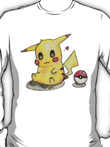Cute Pikachu Watercolor T-Shirt