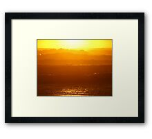 Waves of fire Framed Print