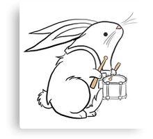 Drummer Bunny Metal Print