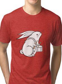 Drummer Bunny Tri-blend T-Shirt