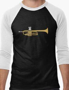 Trumpet Cat Men's Baseball ¾ T-Shirt