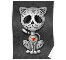 Dark Zombie Sugar Kitten Cat Poster