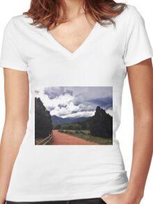 Garden of the Gods, Pt. 1 Women's Fitted V-Neck T-Shirt