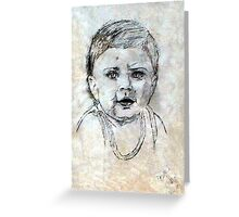 Baby Portrait Greeting Card