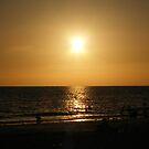 Sihouette beach scene by Ms.Serena Boedewig
