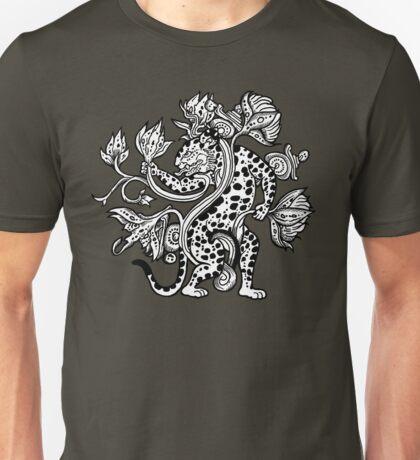 Mayan Jaguar with Lotus Unisex T-Shirt