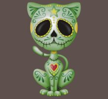 Green Zombie Sugar Kitten Cat Kids Clothes