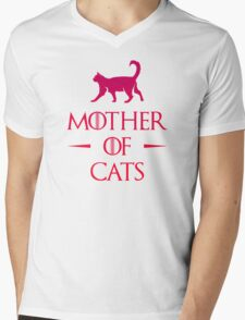 Mother of Cats - Gradient Mens V-Neck T-Shirt
