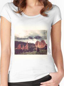 Garden of the Gods, Denver Women's Fitted Scoop T-Shirt