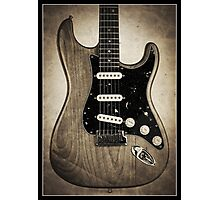 Fender Stratocaster Sepia Border Photographic Print