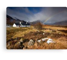 Scotland: Blackrock Rainbow Canvas Print