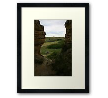 From a Hole in the Rock Framed Print