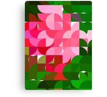 Pink Roses in Anzures 2 Abstract Circles 1 Canvas Print