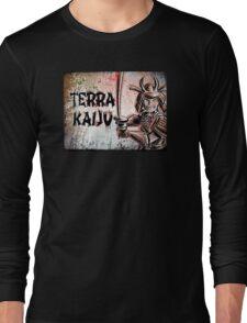 Terra Kaiju, Daikaiju, kaiju, japan, japanese, samurai, terra cotta, godzilla, mothra, king ghidora, comix, indie, ancient, joe badon Long Sleeve T-Shirt